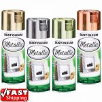 Rust Oleum Metallic Silver Gold Brass Copper Spray Paint Reflective Finish