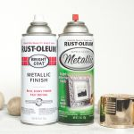 Rust Oleum Metallic Spray Paints