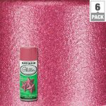 Rust Oleum Specialty Bright Pink Glitter Spray Paint Pack Home