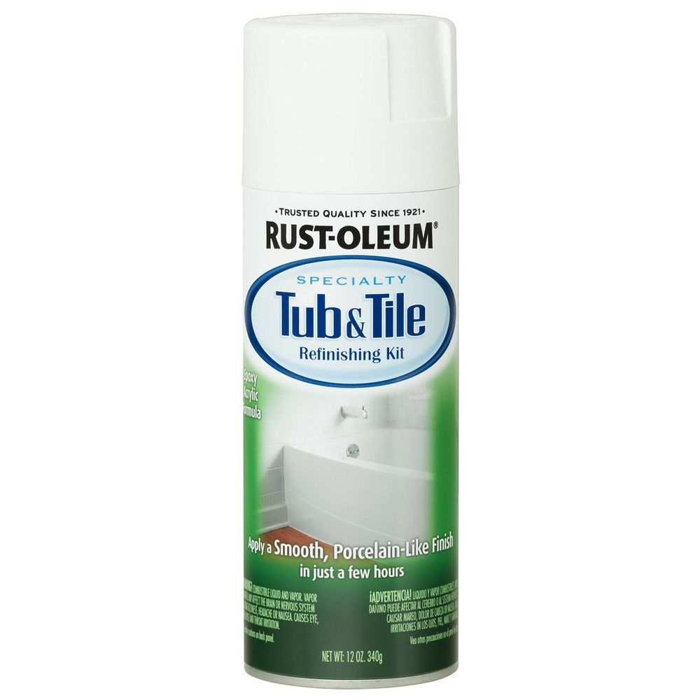 Rust Oleum Specialty Tub Tile Spray Paint Ounce White New