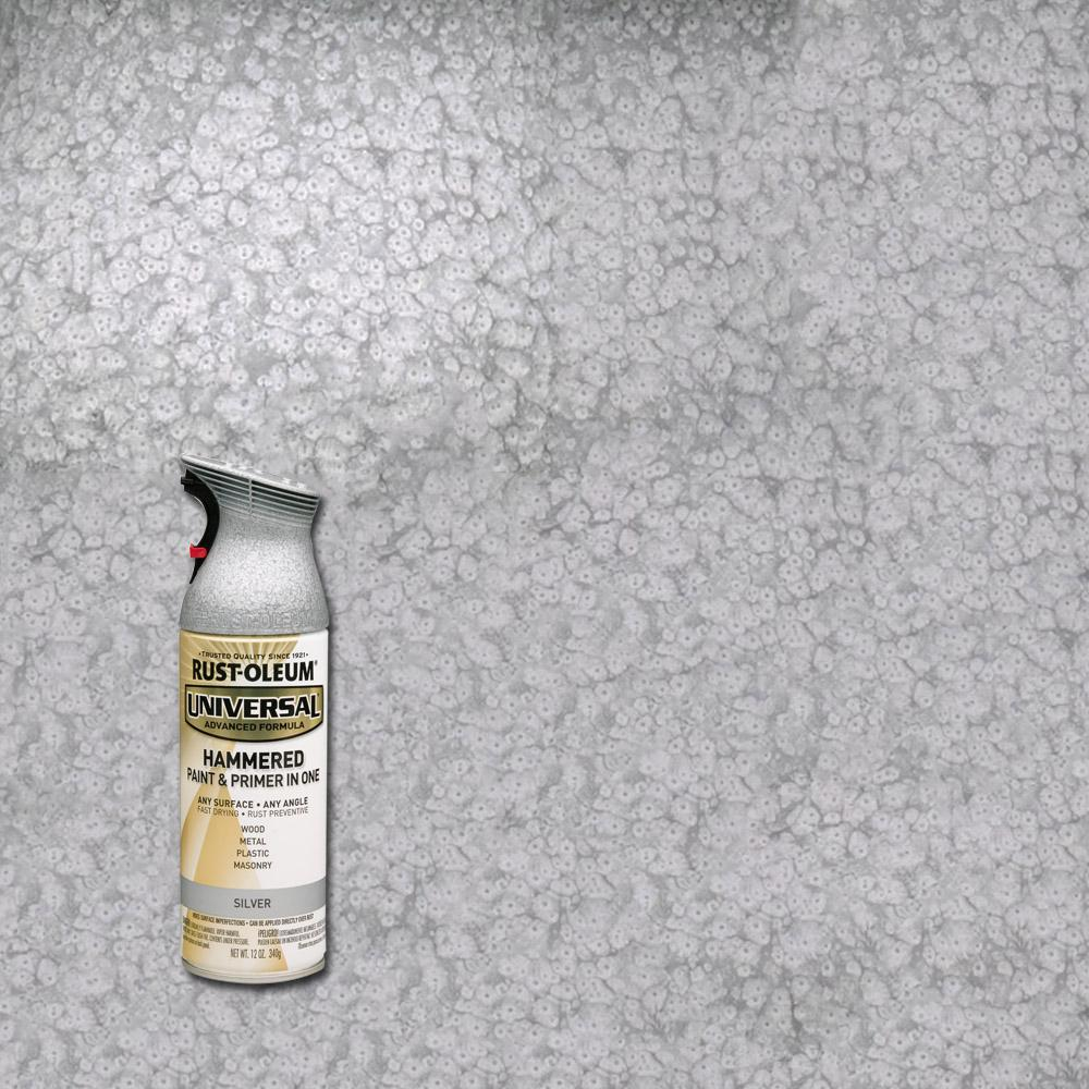 Rust Oleum Universal All Surface Hammered Silver Spray Paint Primer