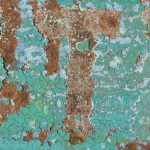 Rusted Green Metal Texture