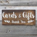 Rustic Hand Painted Wood Wedding Sign Cards