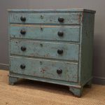 Rustic Painted Georgian Antique Chest Drawers Antiques