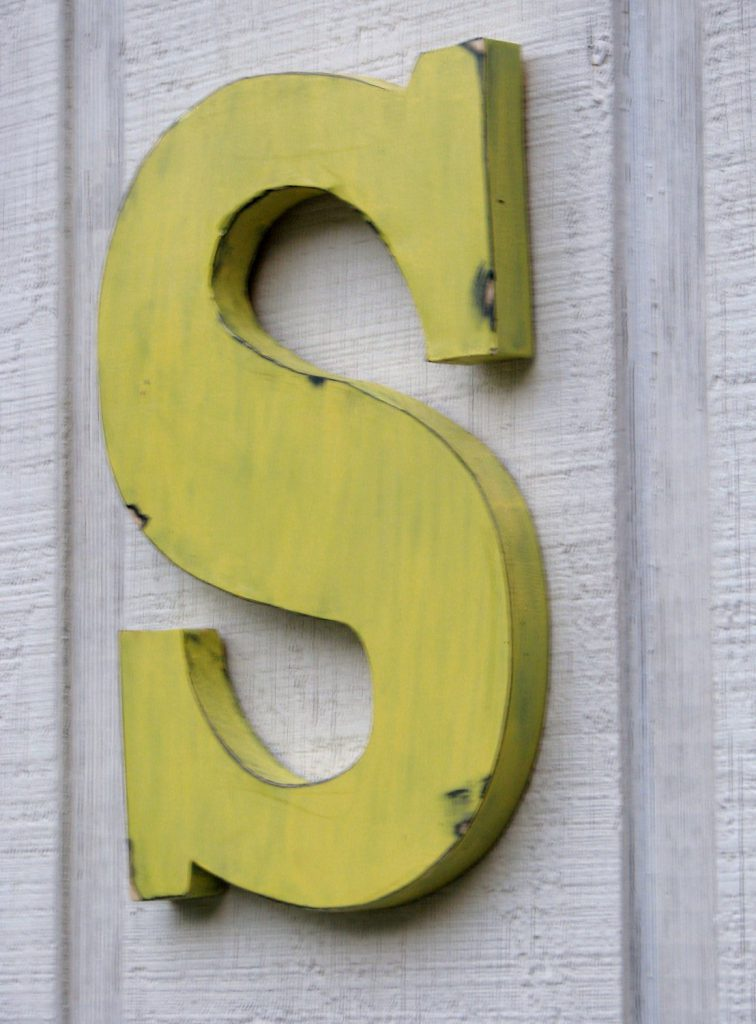 Rustic Wooden Letters Distressed Painted