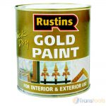 Rustins Quick Drying Gold Paint Wood Metal