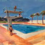 Saatchi Art Pool Diving Board Painting Rosemary