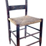 Set Six Hand Painted Rush Chairs Sale