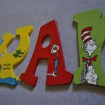 Seuss Hand Painted Wooden Letters Nursery Play