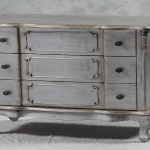 Shabby Chic Silver Leaf Drawer Chest Furniture Industrial