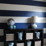 Shabby Nest Scotch Blue Painting Party Striped Wall