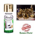 Shiny Metallic Gold Spray Paint Lacquer Fast Dry Rustoleum Can Painting