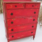 Shizzle Design Funky Chunky Distressed Red Highboy