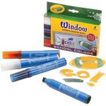 Shop Crayola Washable School Colors Window Mega Markers Pack Shipping