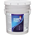 Shop Olympic Assure Flat Acrylic Exterior Paint Actual Contents