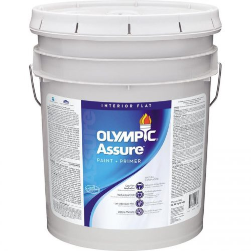 Shop Olympic Assure Tintable Flat Latex Interior Paint Primer One Actual