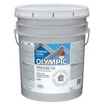 Shop Olympic Gallon Container Exterior Flat Tintable White Latex Base Paint