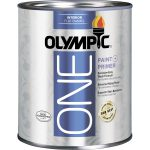 Shop Olympic One Tintable Flat Latex Enamel Interior Paint Primer
