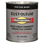Shop Rust Oleum Professional Black Flat Oil Based Enamel Interior Exterior Paint