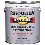 Shop Rust Oleum Professional Gloss White Oil Based Enamel Interior Exterior Paint