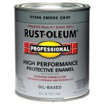 Shop Rust Oleum Professional Smoke Gray Gloss Oil Based Enamel Interior Exterior Paint