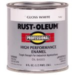 Shop Rust Oleum Professional White Gloss Oil Based Enamel Interior Exterior Paint