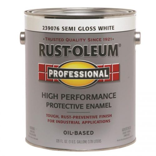 Shop Rust Oleum Professional White Semi Gloss Oil Based Enamel Interior