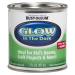 Shop Rust Oleum Satin Luminous Green Glow Dark Latex Paint Actual