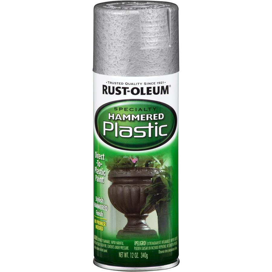 Shop Rust Oleum Specialty Paint Plastic Silver Hammered Fade Resistant Spray