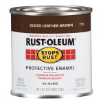 Shop Rust Oleum Stops Leather Brown Gloss Oil Based Enamel Interior Exterior Paint