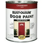 Shop Rust Oleum Stops Satin Cranberry Oil Based Enamel Interior Exterior Paint
