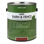 Shop Valspar Barn Fence Flat Red Latex Exterior Paint Actual