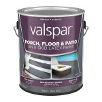 Shop Valspar Dark Gray Satin Interior Exterior Anti Skid Porch Floor Paint