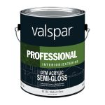 Shop Valspar Direct Metal Semi Gloss Medium Base Latex Interior Exterior Paint