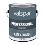 Shop Valspar Flat Professional White Primer Latex Paint Actual