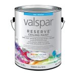 Shop Valspar Reserve Ceiling White Flat Latex Interior Paint Primer One
