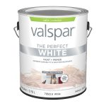Shop Valspar Satin Perfect White Latex Exterior Paint Actual Contents