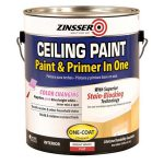 Shop Zinsser Ceiling Flat Bright White Latex Enamel Paint Primer One Actual