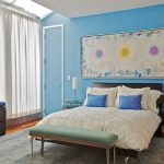 Show Bedrooms Designs Blue Bedroom Accent Wall Paint Color Ideas