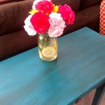 Side Table Makeover Valspar Chalk Finish Paint Happy Housewife Home