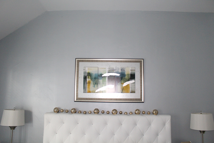 Silver Blue Metallic Paint Accent Wall Frisco Faux Creations Dallas