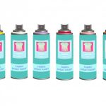 Silver Outdoor Fast Drying Fabric Spray Paint Male Valve