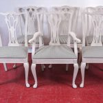 Six Painted Chippendale Style Dining Chairs Sale