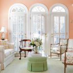 Soft Peach Color Walls Sophisticated Interior Look Style