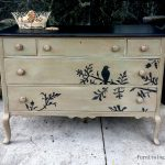 Solid Wood Hand Painted Taupe Black Distressed