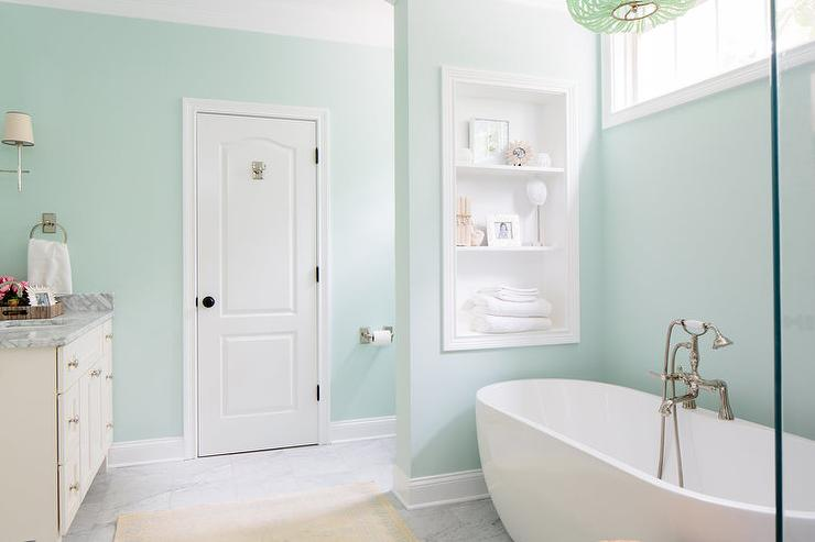 Soothing Green Bathroom Paint Colors Contemporary Sherwin Williams