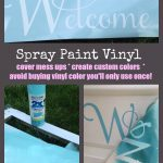 Spray Paint Adhesive Vinyl Custom Colors Silhouette Tutorial
