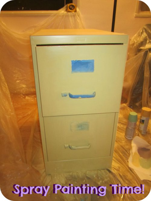 Spray Paint Cabinet Gypsy