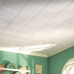 Spray Painting Acoustic Ceiling Tiles