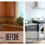 Spray Painting Kitchen Cabinets Before After
